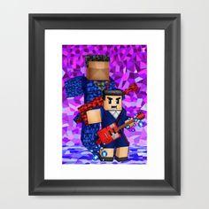 8bit boy with 12th doctor who shadow Framed Art Print #artprint #artdesign…