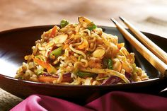 This sweet and tangy Asian-style salad gets its crunch from the ramen noodles and Good Seasons Italian Dressing.