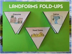 Landforms posters, fold-ups, and project! Fun and informational! $