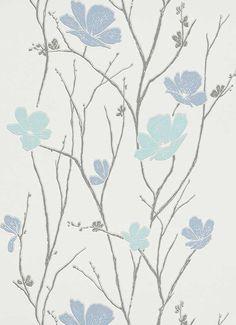Blüten in Aquamarine Bleu