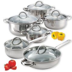 Cook N Home 12-Piece Stainless Steel Set $49.99