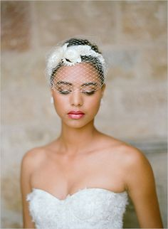 Twigs And Honey Veil #birdcage #veil