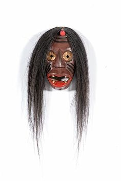 false face masks | 337: Iroquois False Face Wooden Mask : Lot 337