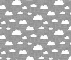 Clouds - Gray texture fabric by kimsa on Spoonflower - custom fabric