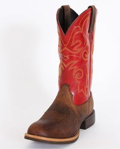 Ariat® Ladies' Hybrid Rancher Earth Mega Red Boots