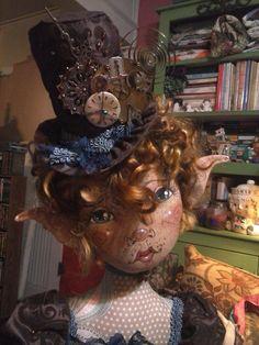 OOAK Cloth Fiber Art Doll - Pippa Grace Darlington - by Paula McGee - Paulas Doll House