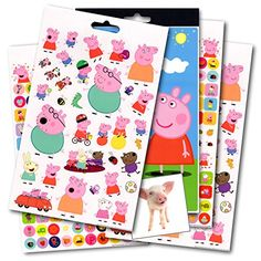Colorful fun & reward stickers featuring Peppa Pig! Sticker pad has over 295 stickers and 4 pages. Includes bonus 3' x 3' separately licensed 'Smiling Pig' reward sticker by Green with Whimsy. Include...