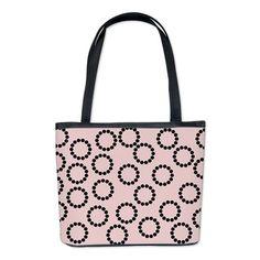 Random Pink Rings Bucket Bag