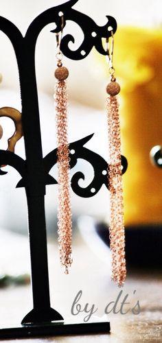 #simplypretty #rosegold #chain #fringe #earrings