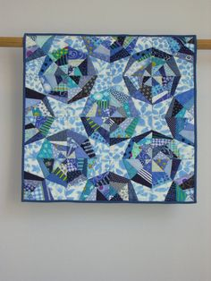 Blue Webs wall quilt