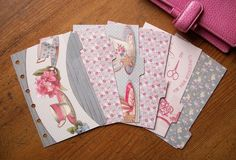 Shabby Chic 'Time Goes By' Pocket Dividers.