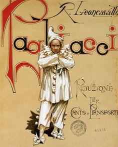 Reduced sheet music for Pagliacci, opera by Ruggero Leoncavallo (1857-1919)