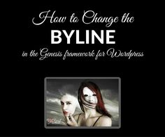 How to change the byline in the Genesis theme for WordPress.