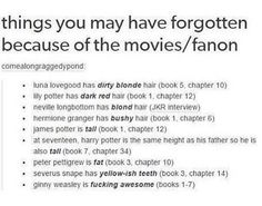 Ginny Weasley is FUCKING AWESOME (books 1-7)