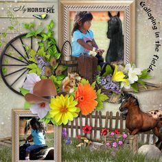 Mon cheval mon ami Kit created by LouiseL is available at: Digital Crea, My Memories, E Scape and Scrap, Scrap from France, Scrap and Tubes and The Digital Scrapbook Shop