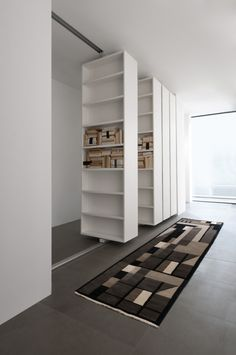 94 Amazing Bookshelf Design Ideas - Essential Furniture In Your Home Freestanding Double Sided Poplar Bookcase Manufacturer Murs Mobiles, Movable Walls, Hidden Rooms, Bookshelf Design, Bookshelf Ideas, Wall Bookshelves, Bookcases, Design Case, Interior Design Living Room