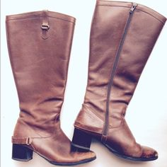 Pierre Cardin Paris Leather Riding Boots Awesome Pierre Cardin Brown Leather Riding Boots. Worn but there is still life left in them. Pierre Cardin Paris Shoes