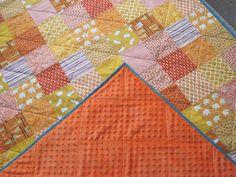 Mama's Crafts: Quilt 33 - Orange Patchwork Quilt