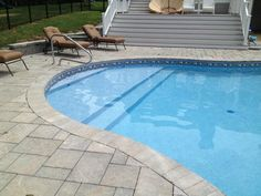 vinyl liner pools with tanning ledge | Vinyl Liner In-ground Pool Design Trends To Watch In 2013