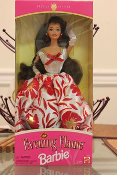 Barbie doll Evening Flame Barbie 1995 Special Edition #Mattel #DollswithClothingAccessories