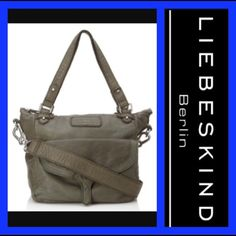 """NWT Liebeskind Berlin: Coco B washed shoulder bag NWT: Olive leather Coco B washed shoulder bag!!!!! Relaxed tumbled leather, brushed silver hardware, magnetic flap pocket, 3 interior pockets, and optional strap adjusts from 20"""" to 24."""" Lining is lightweight canvas with a zipper closure...  Height - 10"""", width - 12"""", depth - 8.25"""", shoulder drop - 8"""" Liebeskind Bags"""