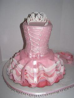 "Ballerina Cake ""Granddaughter's Tutu"" | CakeCentral.com by By GRAMMASUE"