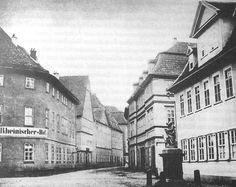 Erfurt: Rheinischer Hof, um 1900. Ecke Regierungsstraße/Lange Brücke. Ehemals Schlehdorn.