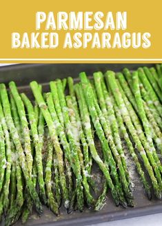 This Parmesan Baked Asparagus recipe is a quick and easy side dish that's perfect for dinner. You can't go wrong with cheesy asparagus! Best Asparagus Recipe, Ways To Cook Asparagus, Grilled Asparagus Recipes, Oven Roasted Asparagus, How To Roast Asparagus, How To Steam Asparagus, Sauce For Asparagus, Asparagus On The Grill, Healthy Recipes