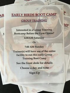 Early Birds Boot Camp @WorldGymKelowna