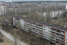 Ukrainian village abandoned due to nuclear environment.