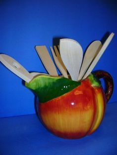Peach Kitchen, Ceramic Pitcher, Just Peachy, Kitchen Themes, Utensil Set, Peach Colors, Hope Chest, Peaches, 3 D