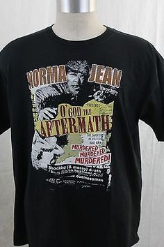 MENS-XL-NORMA-JEAN-O-GOD-THE-AFTERMATH-METALCORE-PUNK-ATLANTA-METAL-HARD-TO-FIND