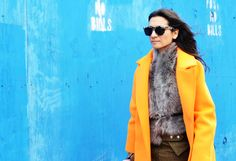 street style winter colour coat