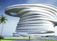 Abu Dhabi's Spiraling Helix Hotel