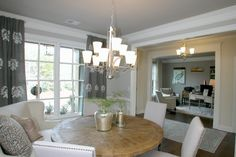 The idea of using a loveseat as part of a dining room table set up is so unique. We love it in our Jacobs III model home. Flowery Branch, Open Concept Floor Plans, Dining Room Table, Dining Rooms, Table Set Up, Ranch Style, Model Homes, Luxury Homes, Building A House