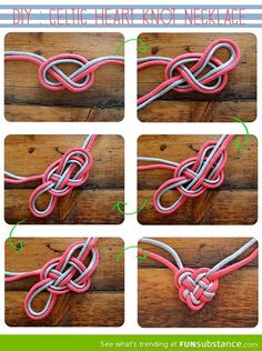How to tie a celtic heart knot necklace