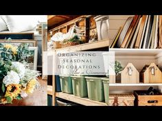 Organizing Seasonal Decorations - YouTube Homemaking, Seasonal Decor, Organization, Organizing, Seasons, Table Decorations, Simple, Holiday, Home Decor