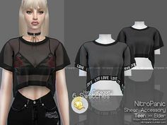 The Sims 4 Sheer Accessory Sims 4 Mods Clothes, Sims 4 Clothing, Cc Top, The Sims 4 Cabelos, Pelo Sims, Sims 4 Dresses, Sims 4 Outfits, Sims 4 Gameplay, Sims4 Clothes
