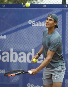 Rafael Nadal first practice Barcelona Open (7)