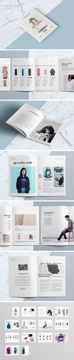 Stunning InDesign lookbook template