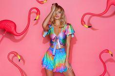I Bleed Rainbows Rio Top - CAPPED PRESALE (AU $70AUD), I Bleed Rainbows Shorties - 48HR (AU $50AUD) by BlackMilk Clothing