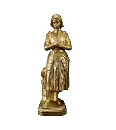 Saint Joan of Arc Statue after The Princess of Orleans – Charmantiques Saint Joan Of Arc, St Joan, Joan Of Arc Statue, French Sculptor, Romantic Woman, Two Daughters, French Antiques, Restoration, Saints