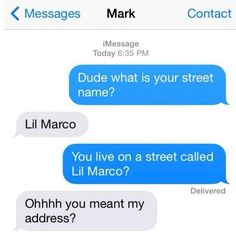 Street name funny text fail Marco
