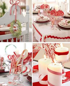 Candy cane themed Christmas