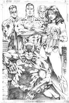 Justice League by Marcio Abreu Comic Book Artists, Comic Book Characters, Comic Artist, Comic Character, Comic Books Art, Arte Dc Comics, Dc Comics Art, Batman Comics, Armadura Do Batman