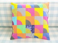 Pillow case patchwork quilted decorative throw by poppyshome