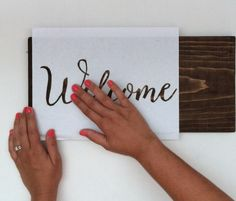 Creating a calligraphy stencil for wedding signs @mephal this looks pretty easy to do!