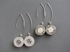 newspaper & phone book earrings | BLURECO