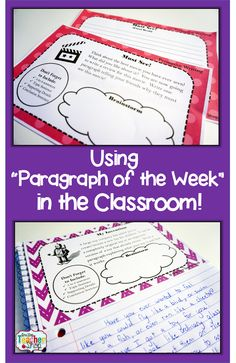 "Maybe I'll give this a try 2nd semester... Read about how ""Paragraph of the Week"" writing homework helped improve my students' writing!"