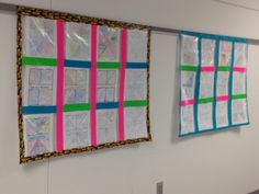 Great way to display student work.  Preserves the work and doesn't fall off in a busy hallway! The best part is all it takes to create is some ziplocs and duct tape.